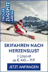 Skifahren nach Herzenslust in der Zugspitz Arena