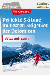 Perfekte Skitage in den Dolomiten